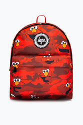 HYPE X SESAME STREET ELMO RED CAMO BACKPACK