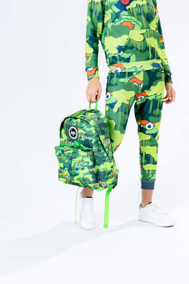 HYPE X SESAME STREET OSCAR THE GROUCH GREEN CAMO BACKPACK