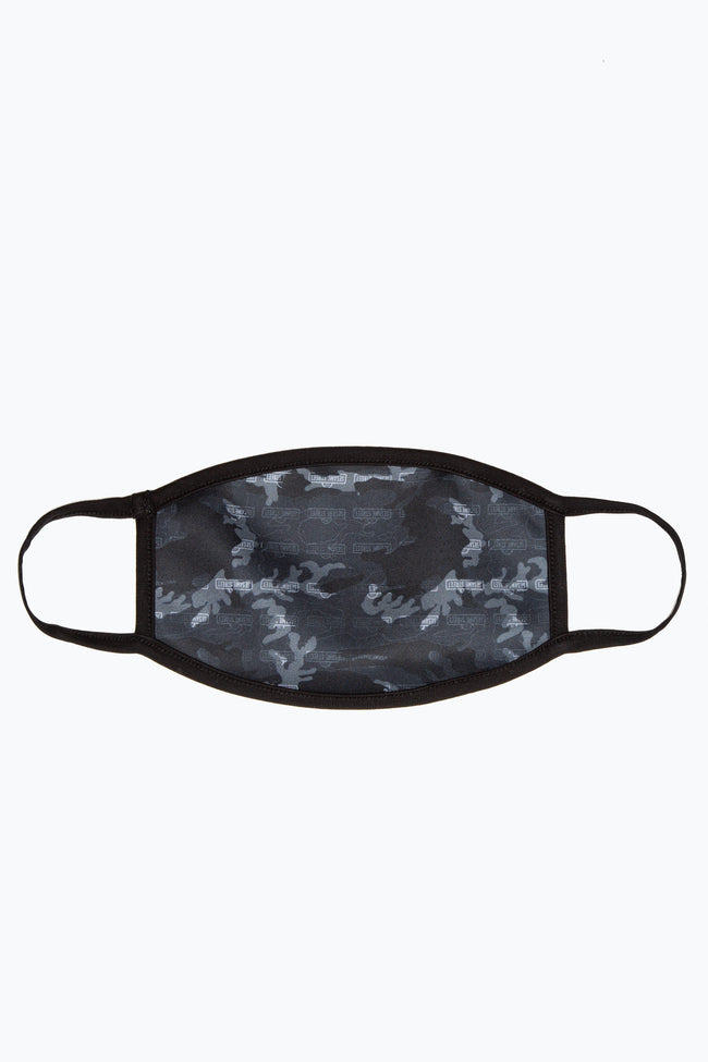 HYPE X SESAME STREET GREY CAMO REPEAT LOGO ADULT FACE MASK