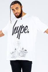 HYPE X SESAME STREET MONO SCRIPT CHARACTER OUTLINE ADULT T-SHIRT