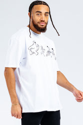 HYPE X SESAME STREET MONO CHARACTER OUTLINE ADULT T-SHIRT