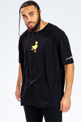 HYPE X SESAME STREET BIG BIRD BLACK LOGO ADULT T-SHIRT