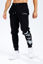 BLACK SCRIBBLE LOGO TAPED CHARACTER ADULT JOGGERS