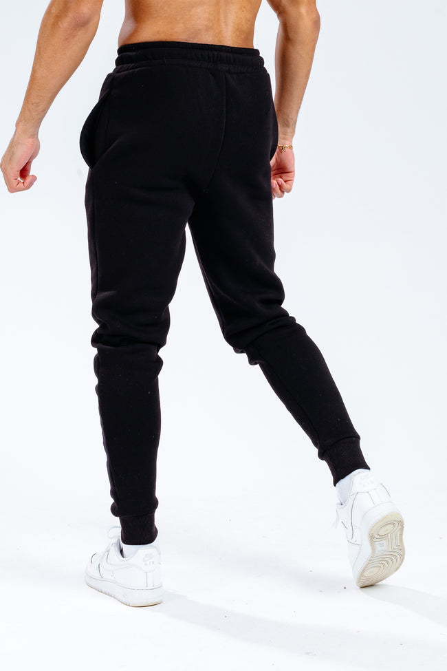 HYPE X SESAME STREET BLACK SCRIBBLE LOGO TAPED CHARACTER ADULT JOGGERS
