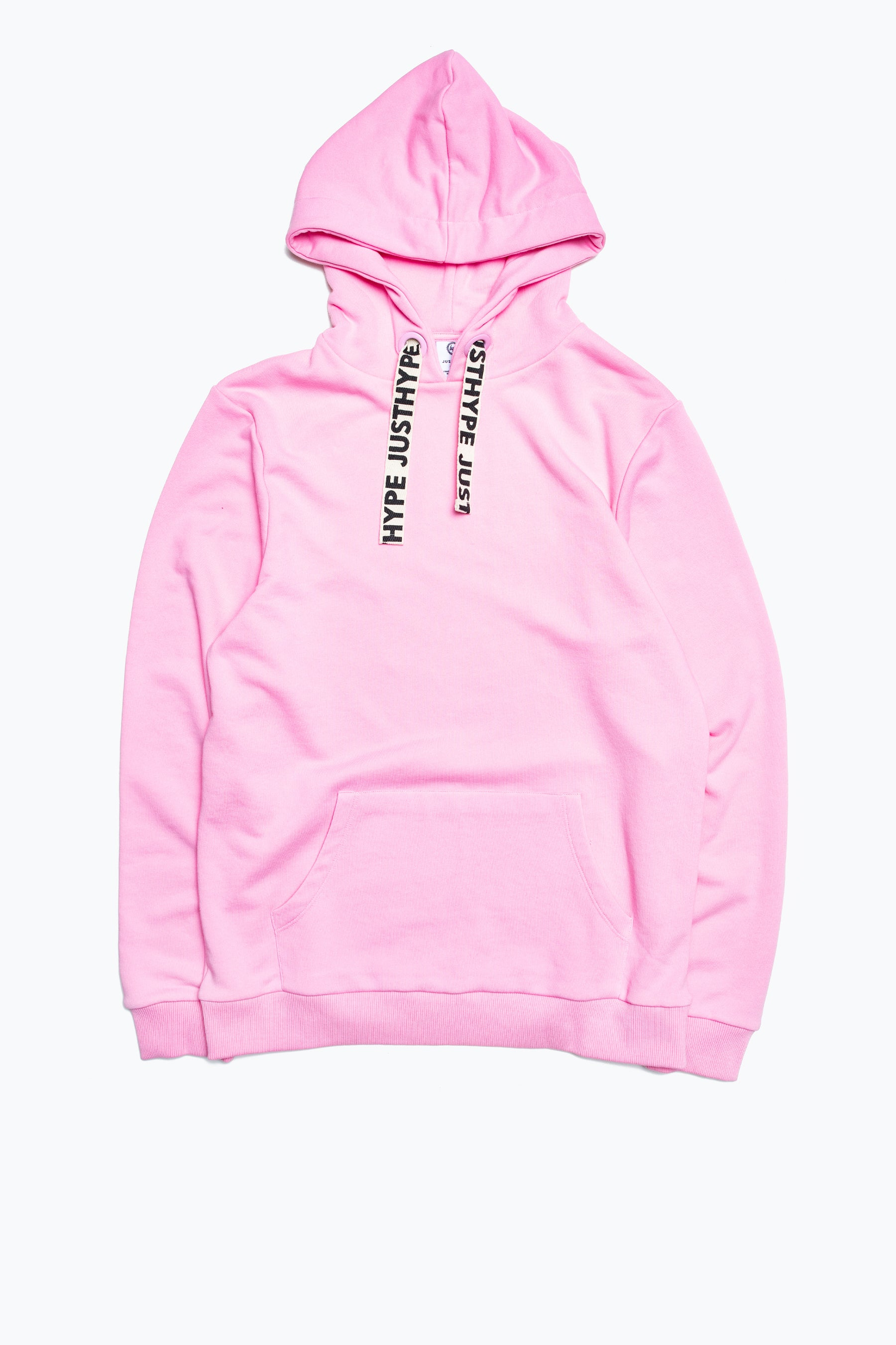 Hype Pink Drawcord Women's Pullover Hoodie | Size 22