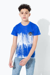 HYPE BLUE DOUBLE DRIP KIDS T-SHIRT