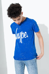 HYPE BLUE SPECKLE KIDS T-SHIRT