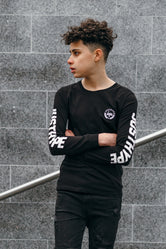HYPE BLACK SPORT SPECKLE KIDS L/S T-SHIRT