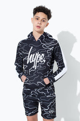 HYPE BLACK LINE CAMO KIDS PULLOVER HOODIE