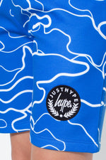 HYPE BLUE LINE CAMO KIDS SHORTS