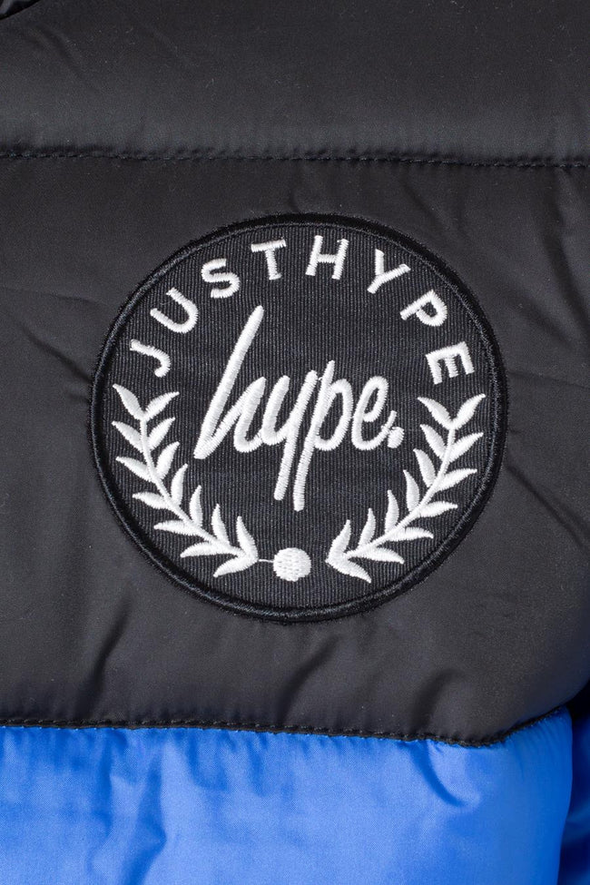 HYPE Blue/Black REVERSIBLE KIDS PUFFER JACKET