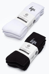 HYPE BLACK & WHITE CREW SOCKS BUNDLE