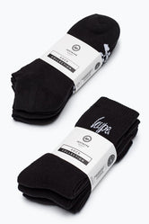 HYPE BLACK CREW & TRAINER SOCKS BUNDLE