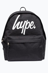 HYPE BLACK LARGE SCRIPT BACKPACK