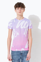 HYPE REPEAT SCRIPT FADE KIDS T-SHIRT