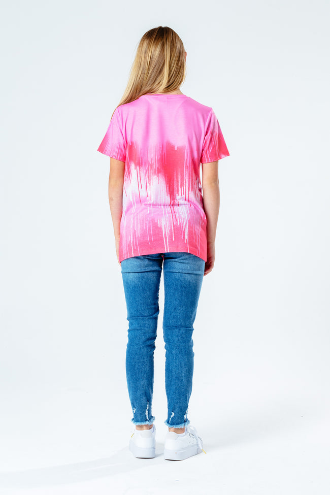 Hype Pink On Pink Drips Kids T-Shirt