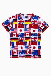 SOCIETY SPORT FLAGS T-SHIRT