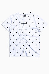 SOCIETY SPORT WHITE DOT T-SHIRT