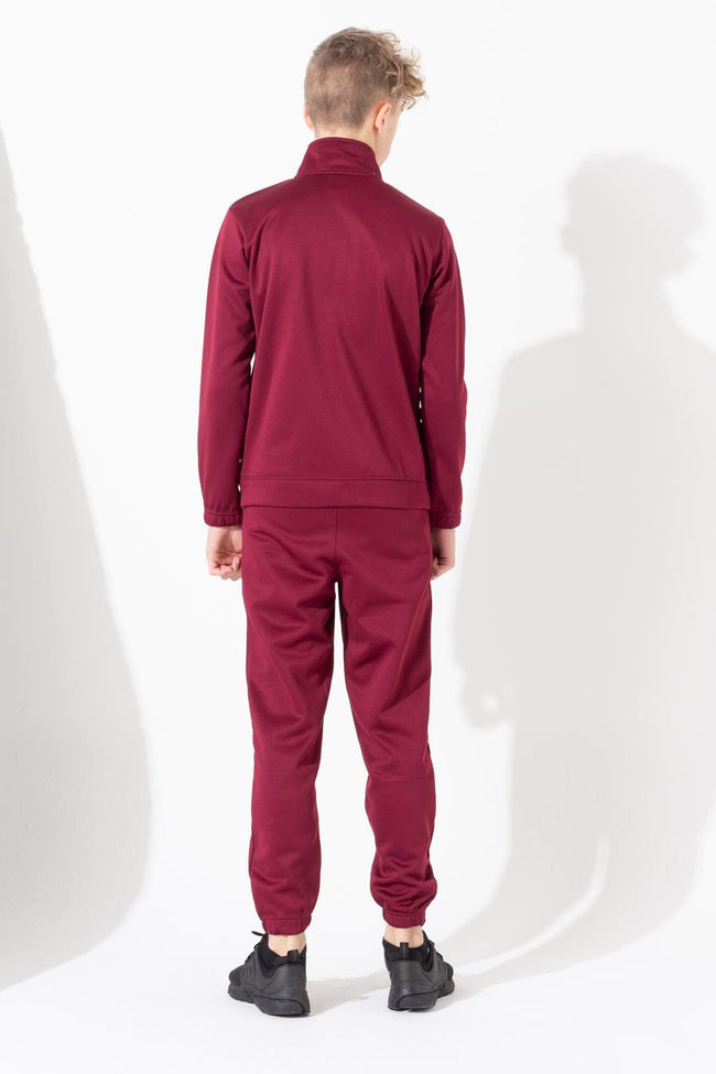 HYPE BURGUNDY SLIM KIDS TRACKSUIT