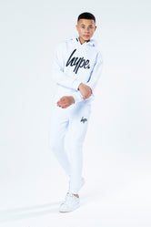 HYPE WHITE WITH BLACK SCRIPT KIDS HOODIE & JOGGER SET