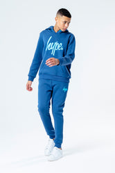 HYPE ROYAL WITH BLUE SCRIPT KIDS HOODIE & JOGGER SET