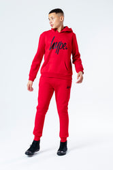 HYPE CHERRY RED WITH BLACK SCRIPT KIDS HOODIE & JOGGER SET