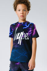 HYPE X RIVER ISLAND BLACK LIGHTNING KIDS T-SHIRT