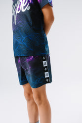 HYPE X RIVER ISLAND BLACK LIGHTNING KIDS SHORTS
