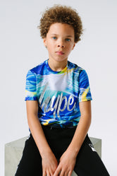HYPE X RIVER ISLAND BLUE STROBE KIDS T-SHIRT