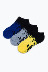 HYPE 3 PACK PAINT DRIP KIDS TRAINER SOCKS