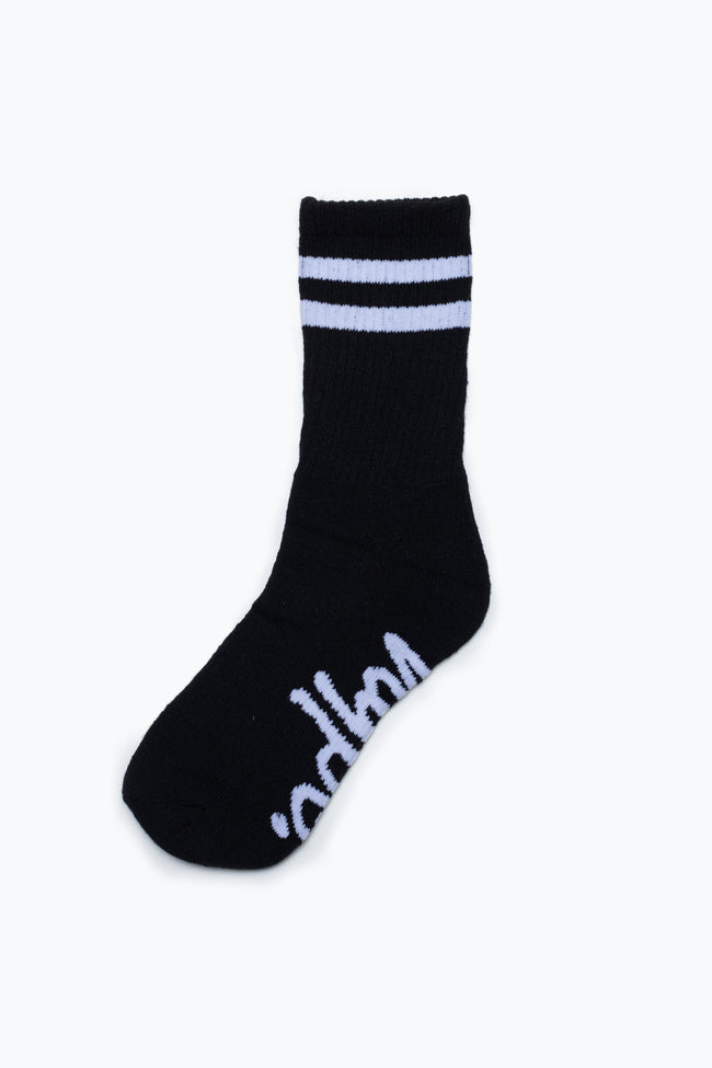 HYPE 3 PACK MONTONE CORE KIDS CREW SOCKS