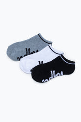 HYPE 3 PACK MONOTONE KIDS TRAINER SOCKS