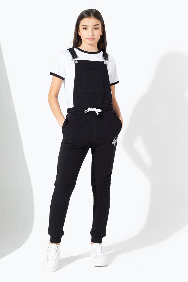 HYPE BLACK KIDS DUNGAREES