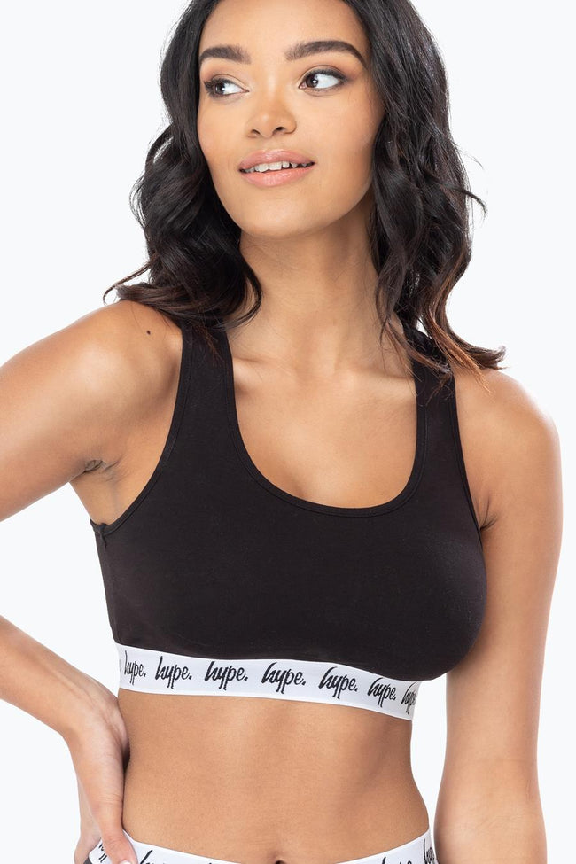 HYPE BLACK TAPED WOMENS BRALET