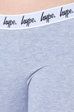 HYPE GREY TAPED KIDS LEGGINGS