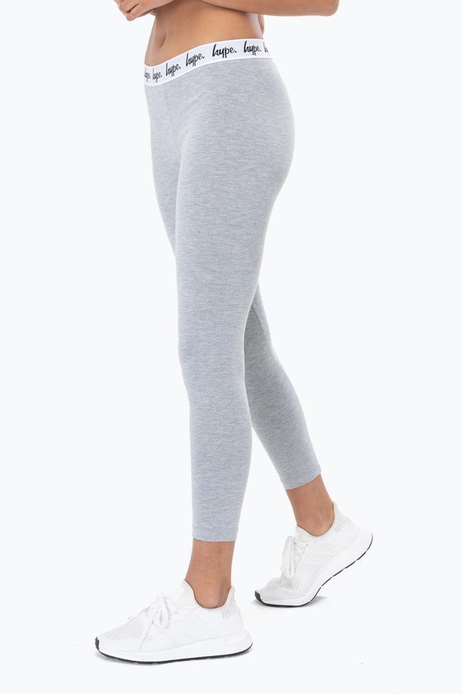HYPE GREY TAPED WOMENS LEGGINGS