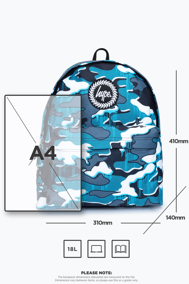 HYPE BLUE DRIPS CAMO BACKPACK