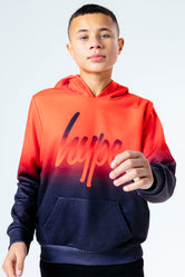HYPE RED FADE KIDS PULLOVER HOODIE