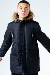 HYPE BLACK PARKA KIDS JACKET