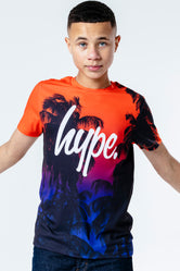 HYPE SUNSET PALM KIDS T-SHIRT