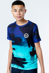 HYPE BLUE FADE SPRAY KIDS T-SHIRT