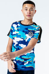 HYPE BLUELINE CAMO KIDS T-SHIRT