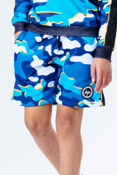 HYPE BLUELINE CAMO KIDS SHORTS