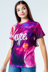 HYPE PINK SPACEY KIDS T-SHIRT