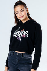 HYPE BUTTERFLY KIDS CROP PULLOVER HOODIE