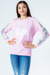 HYPE HOLO SIDE STRIPE KIDS CREW NECK