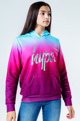 HYPE RASPBERRY FADE KIDS PULLOVER HOODIE