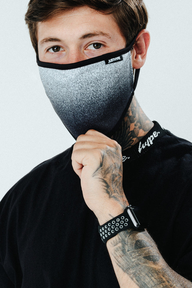 HYPE MENS SPECKLE FADE FACE MASK