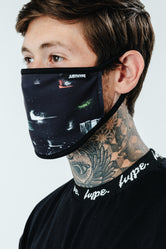 HYPE MENS ABSTRACT BRUSH FACE MASK