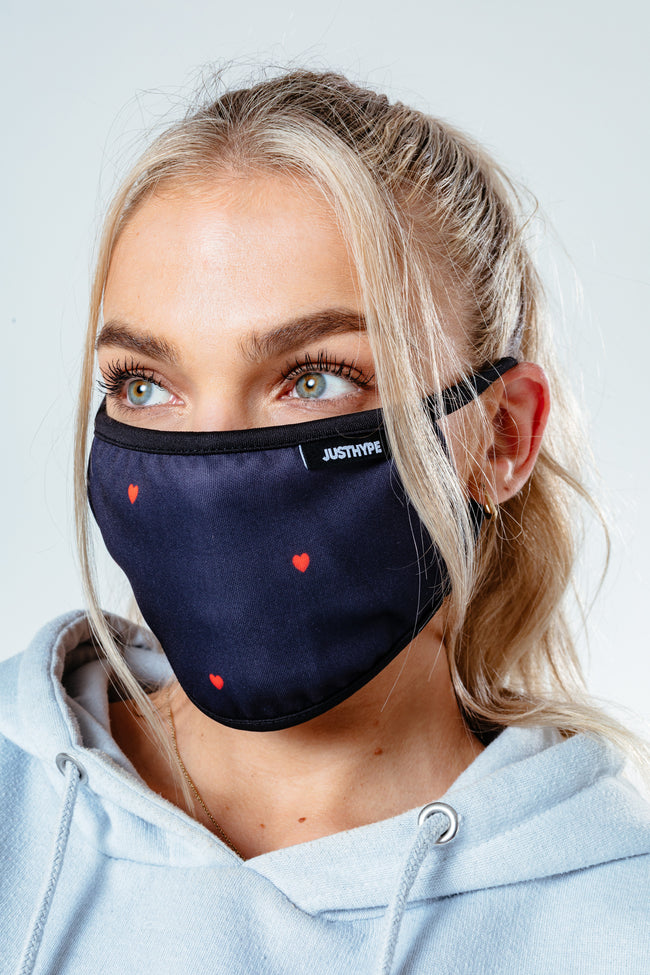 Hype Womens Mini Hearts Face Mask